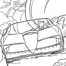 Batman en su batmóvil - Dibujos para Colorear y Pintar - Dibujos para colorear SUPERHEROES - Dibujos para colorear BATMAN - Dibujos para colorear BATIMOVIL