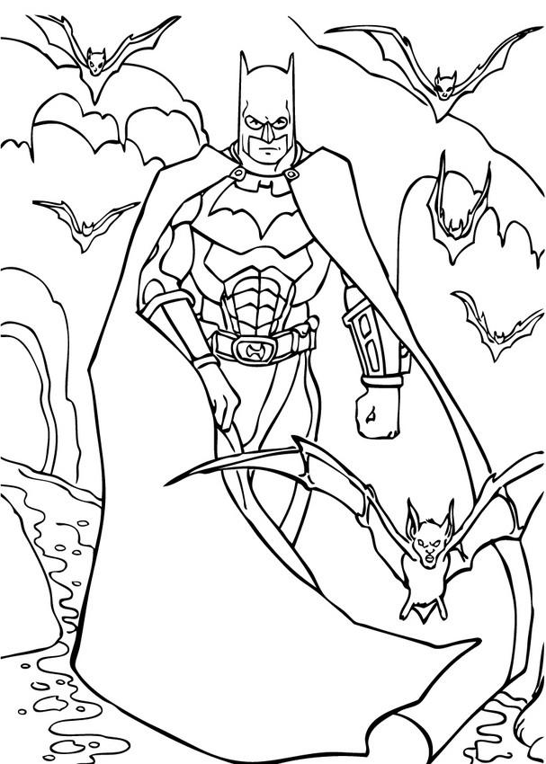 Dibujos para colorear batman y los murciélagos - es ...