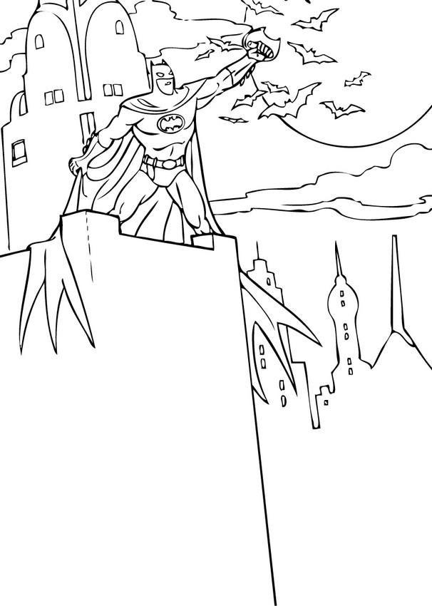 Dibujos para colorear batman con los murcielagos - es ...