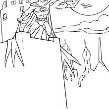 Batman con los murcielagos - Dibujos para Colorear y Pintar - Dibujos para colorear SUPERHEROES - Dibujos para colorear BATMAN - Dibujos para colorear HOMBRE MURCIELAGO
