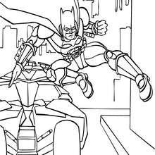 Batman saliendo del Batimóvil - Dibujos para Colorear y Pintar - Dibujos para colorear SUPERHEROES - Dibujos para colorear BATMAN - Dibujos para colorear BATIMOVIL