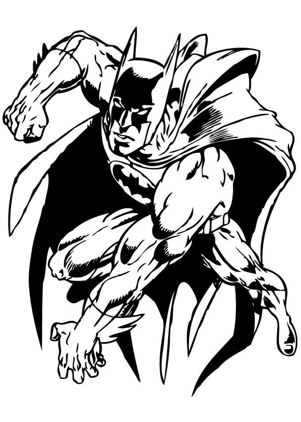 Dibujos para colorear el joker contra batman - es.hellokids.com