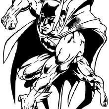 Batman en acción - Dibujos para Colorear y Pintar - Dibujos para colorear SUPERHEROES - Dibujos para colorear BATMAN - Dibujos para colorear e imprimir de BATMAN