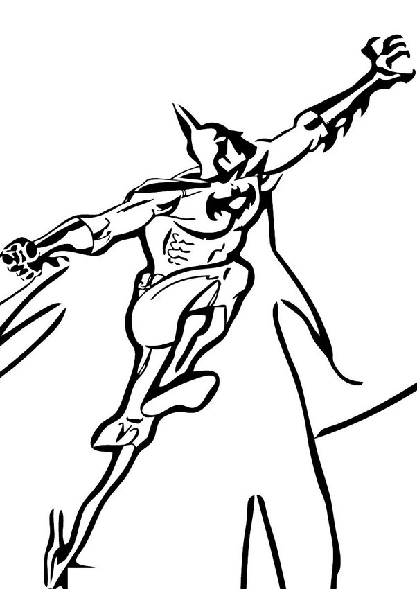 Dibujos para colorear batman volando - es.hellokids.com