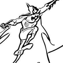 Batman volando - Dibujos para Colorear y Pintar - Dibujos para colorear SUPERHEROES - Dibujos para colorear BATMAN - Dibujos para pintar BATMAN GRATIS