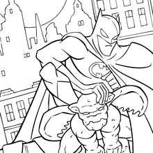 Batman en la noche - Dibujos para Colorear y Pintar - Dibujos para colorear SUPERHEROES - Dibujos para colorear BATMAN - Dibujos para colorear e imprimir de BATMAN