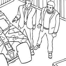 Bruce Wayne y Lucius Fox - Dibujos para Colorear y Pintar - Dibujos para colorear SUPERHEROES - Dibujos para colorear BATMAN - Dibujos para colorear BRUCE WAYNE