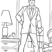 Dibujo para colorear : Bruce Wayne en su casa