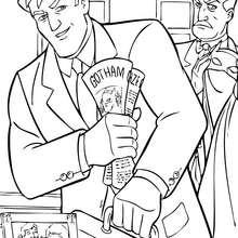 Dibujo para colorear : Bruce Wayne charlano con Alfred