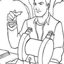 Dibujo para colorear : Bruce Wayne fabricando armas
