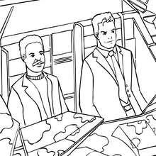 Dibujo para colorear : Bruce Wayne y su amigo Lucius Fox
