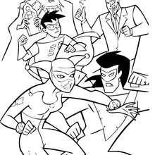 Batman, Batgirl, Dos Caras, el Joker, el espantapájaro