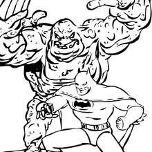 Cara de Barro contra Batman - Dibujos para Colorear y Pintar - Dibujos para colorear SUPERHEROES - Dibujos para colorear BATMAN - Dibujos para colorear PERSONAJES DE BATMAN