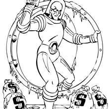 Ataque del Sr. Frío - Dibujos para Colorear y Pintar - Dibujos para colorear SUPERHEROES - Dibujos para colorear BATMAN - Dibujos para colorear BATMAN Y ROBIN