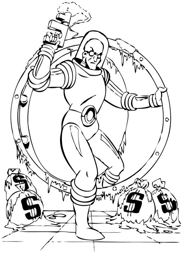 Dibujos para colorear robin, batgirl y batman - es.hellokids.com