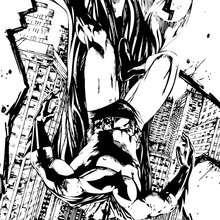 Dibujo para colorear : La caida de Batman