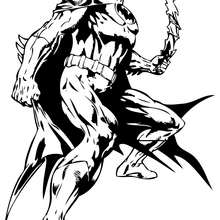 Batman con su batarang - Dibujos para Colorear y Pintar - Dibujos para colorear SUPERHEROES - Dibujos para colorear BATMAN - Dibujos para colorear e imprimir de BATMAN