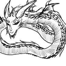 el dragón de Amanda - Dibujar Dibujos - Dibujos de NIÑOS - Dibujos de ANIMALES - Dibujos de DRAGONES