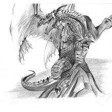 El dragón de Pablo - Dibujar Dibujos - Dibujos de NIÑOS - Dibujos de ANIMALES - Dibujos de DRAGONES