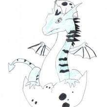 Ilustración : El bebe dragón de Lorena