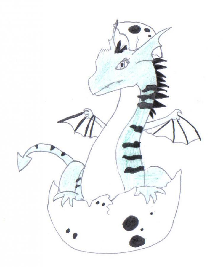 Asombroso Bebé Dragón Para Colorear Colección - Páginas Para ...