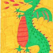 El dragón de Tito - Dibujar Dibujos - Dibujos de NIÑOS - Dibujos de ANIMALES - Dibujos de DRAGONES