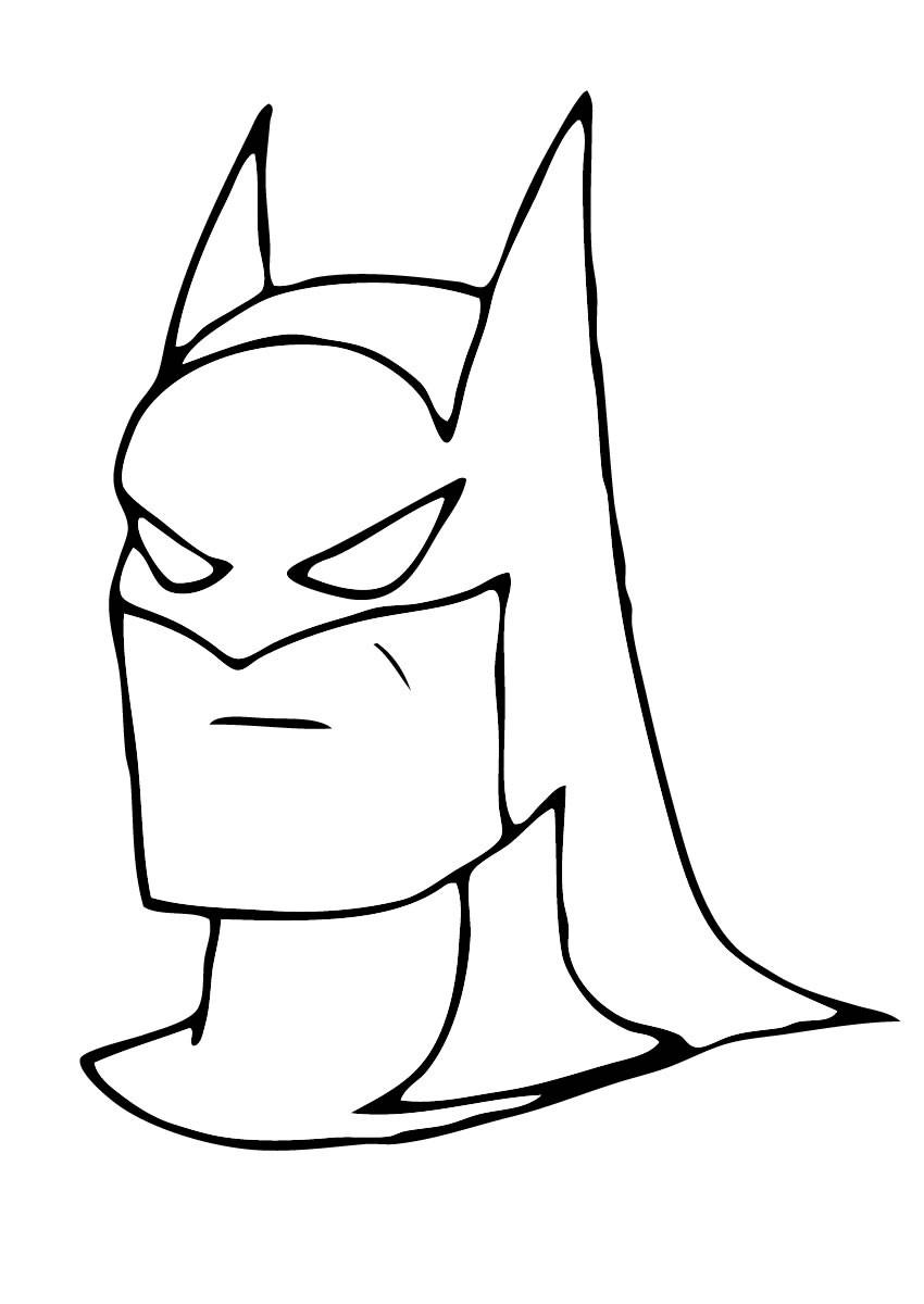 Dibujos para colorear la máscara de batman - es.hellokids.com