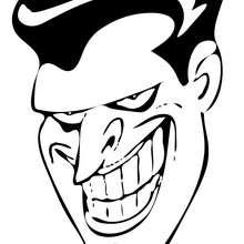 La sonrisa del Joker - Dibujos para Colorear y Pintar - Dibujos para colorear SUPERHEROES - Dibujos para colorear BATMAN - Dibujos para colorear JOKER