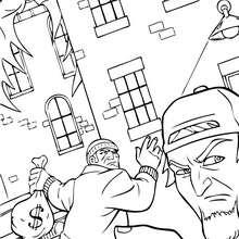 Batman contra los ladrones - Dibujos para Colorear y Pintar - Dibujos para colorear SUPERHEROES - Dibujos para colorear BATMAN - Dibujos para colorear PERSONAJES DE BATMAN