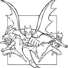 Robin, Batgirl y Batman - Dibujos para Colorear y Pintar - Dibujos para colorear SUPERHEROES - Dibujos para colorear BATMAN - Dibujos para colorear BATMAN Y ROBIN
