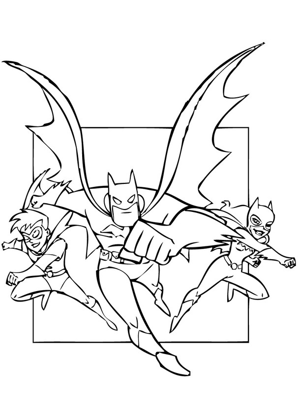Dibujos Para Colorear Robin Batgirl Y Batman Es Hellokids Com