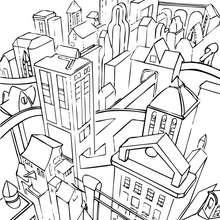 Dibujo para colorear : Gotham city