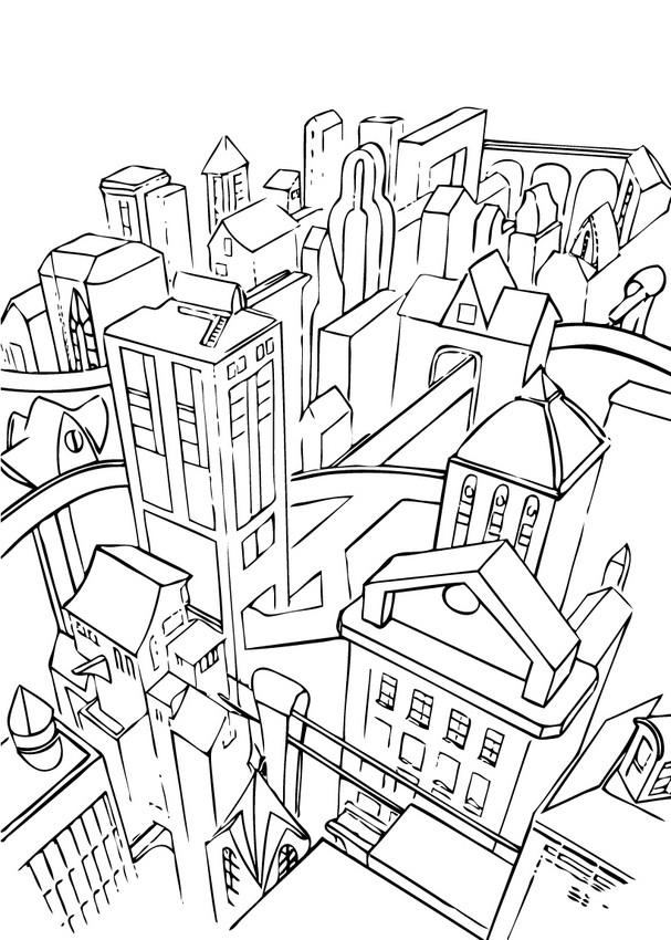 Gotham city - Dibujos para colorear GOTHAM CITY