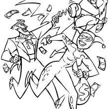 Dibujo del Joker, Batman y el Sombrerero Loco - Dibujos para Colorear y Pintar - Dibujos para colorear SUPERHEROES - Dibujos para colorear BATMAN - Dibujos para colorear JOKER