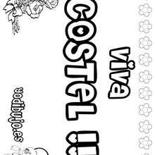 COSTEL colorear nombres niñas - Dibujos para Colorear y Pintar - Dibujos para colorear NOMBRES - Dibujos para colorear NOMBRES NIÑAS