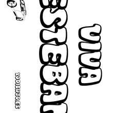 Nombre de niño para colorear : ESTEBAN