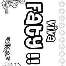 FATY colorear nombres niñas - Dibujos para Colorear y Pintar - Dibujos para colorear NOMBRES - Dibujos para colorear NOMBRES NIÑAS