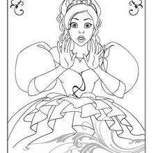 Giselle para colorear - Dibujos para Colorear y Pintar - Dibujos DISNEY para colorear - Dibujos para pintar DISNEY - Dibujos para colorear ENCANTADA