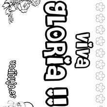 GLORIA colorear nombres niñas - Dibujos para Colorear y Pintar - Dibujos para colorear NOMBRES - Dibujos para colorear NOMBRES NIÑAS