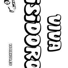 Nombre de niño para colorear : ISIDORO