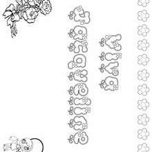 Jacqueline - Dibujos para Colorear y Pintar - Dibujos para colorear NOMBRES - Dibujos para colorear NOMBRES NIÑAS