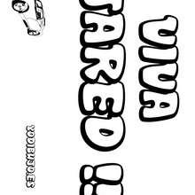 Nombre de niño para colorear : JARED