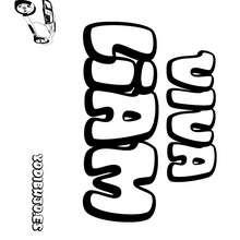 Nombre de niño para colorear : LIAM