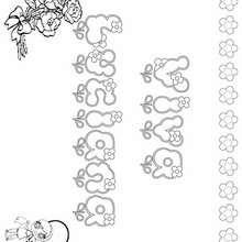 LUCIANA colorear nombres niñas - Dibujos para Colorear y Pintar - Dibujos para colorear NOMBRES - Dibujos para colorear NOMBRES NIÑAS