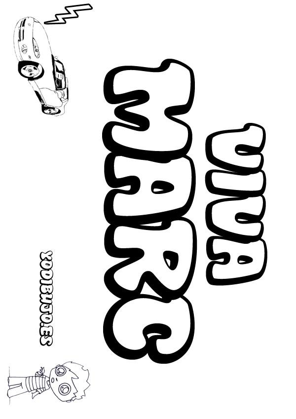 Dibujos para colorear marc - Nombres de ninos para colorear ...