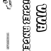 Nombre de niño para colorear : MIGUEL ANGEL