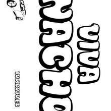 Nombre de niño para colorear : NACHO