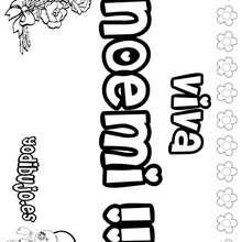 NOEMI colorear nombres niñas - Dibujos para Colorear y Pintar - Dibujos para colorear NOMBRES - Dibujos para colorear NOMBRES NIÑAS