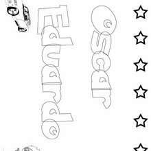 OSCAR EDUARDO pintar nombre niño - Dibujos para Colorear y Pintar - Dibujos para colorear NOMBRES - Dibujos para pintar NOMBRES NIÑOS