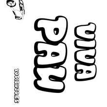 Nombre de niño para colorear : PAU